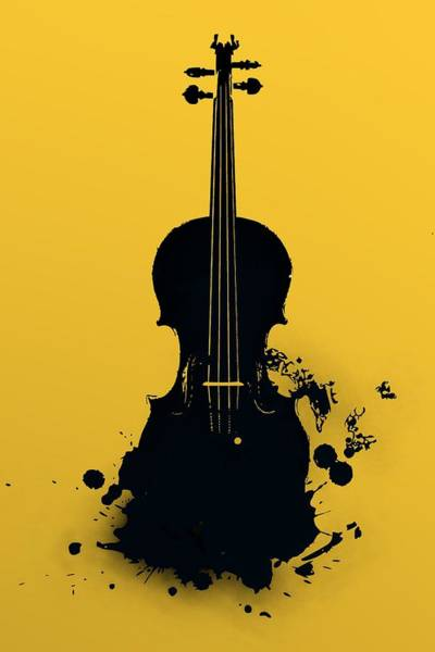 Digital Art - Gold Violin by Alberto RuiZ