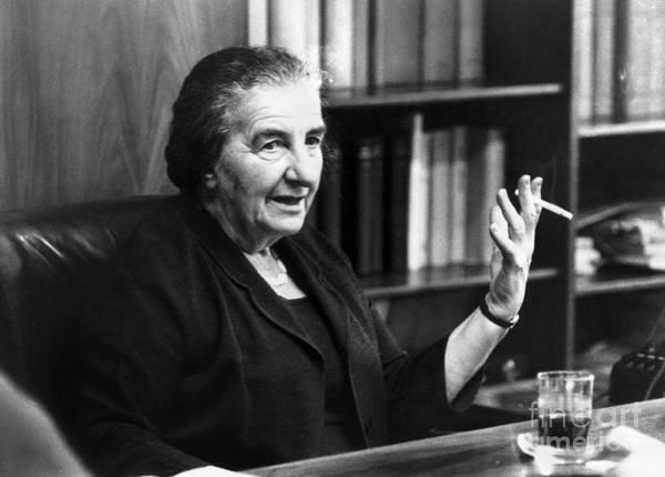 Photograph - Golda Meir (1898-1978) by Granger