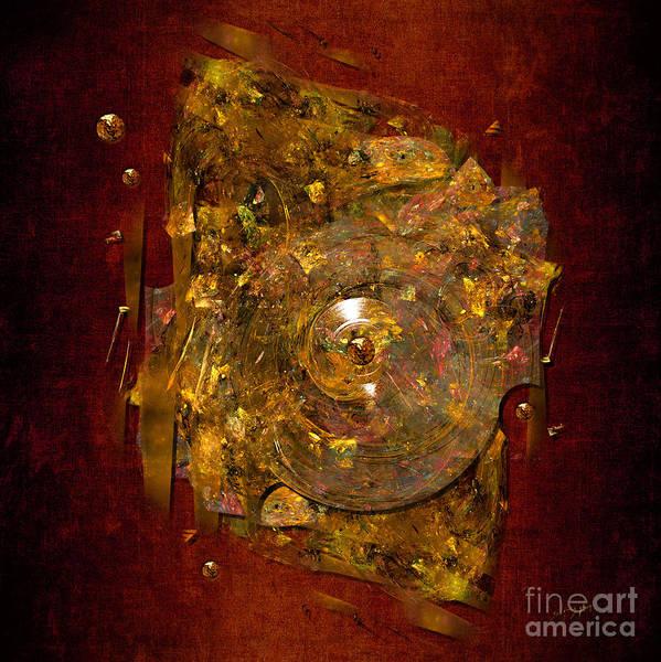 Digital Art - Golden Abstract by Alexa Szlavics