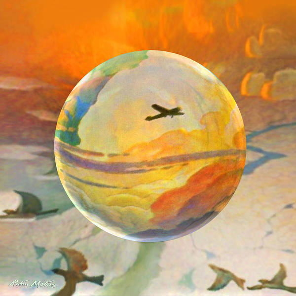 Wall Art - Painting - Golden Age Of Flight by Robin Moline