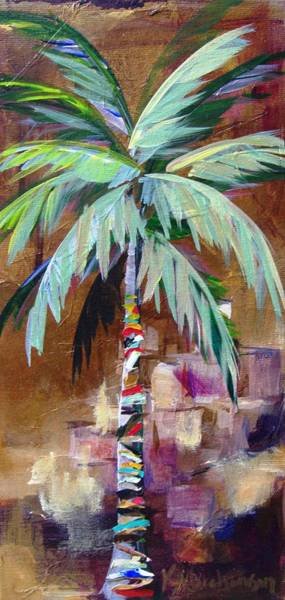 Painting - Golden Amethyst Palm by Kristen Abrahamson