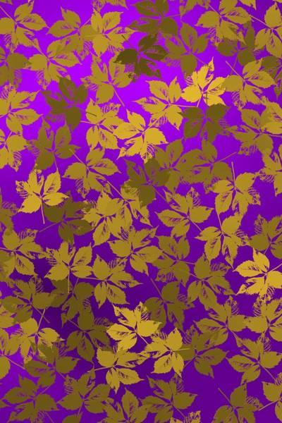 Digital Art - Golden And Bright Violet by Alberto RuiZ