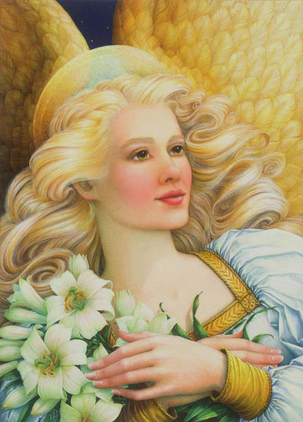 Painting - Golden Angel by Lynn Bywaters