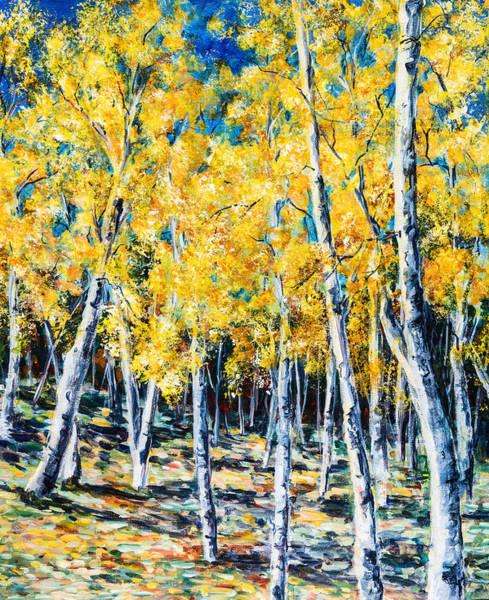Golden Aspen Art Print