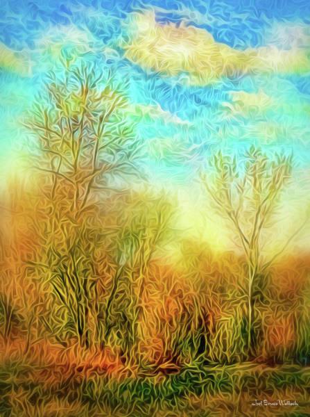 Digital Art - Golden Autumn Light by Joel Bruce Wallach