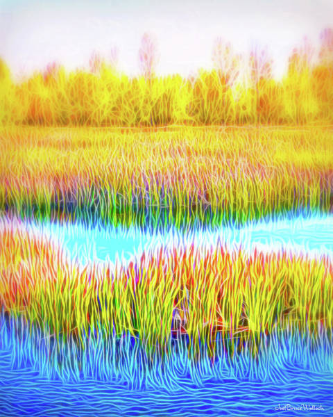 Digital Art - Golden Autumn Meadow by Joel Bruce Wallach