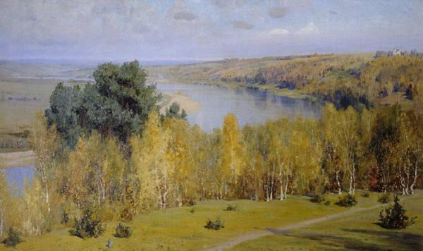 Russian River Painting - Golden Autumn by Vasilij Dmitrievich Polenov