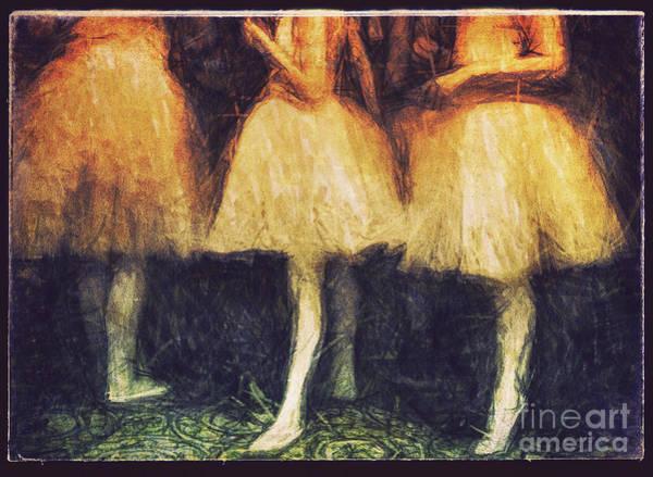 Photograph - Golden Ballerinas by Craig J Satterlee