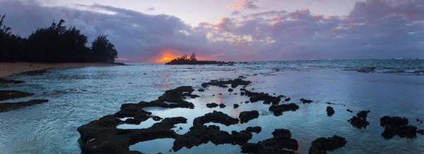 Hawaiian Sunset Photograph - Golden Beacon by Sean Davey