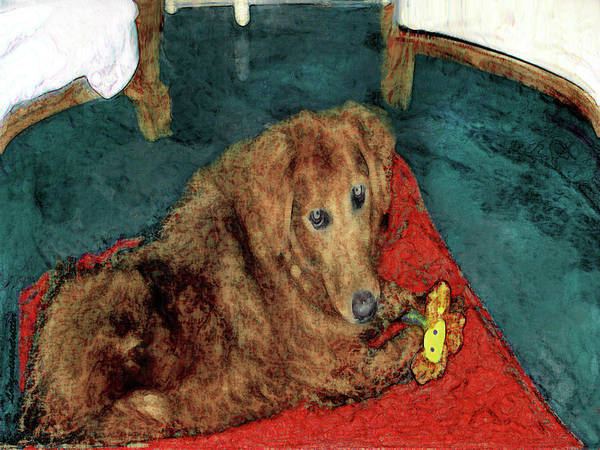 Golden Retriever Digital Art - Golden Bella Painting 2 by Miss Pet Sitter