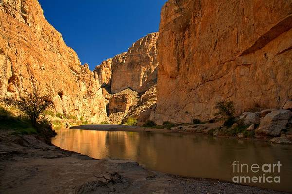 Photograph - Golden Bend At Boquillas by Adam Jewell