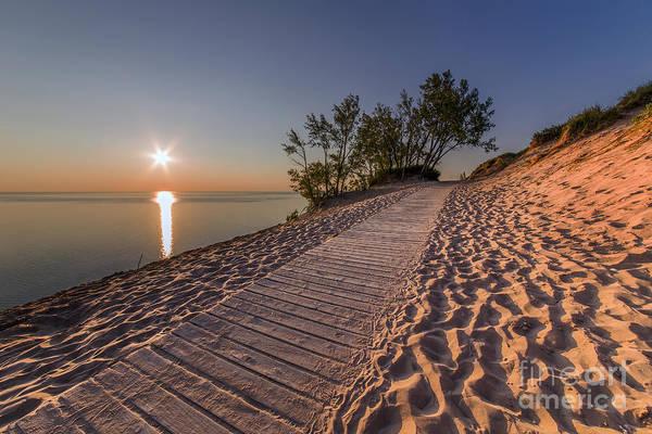 Sleeping Bear Dunes Wall Art - Photograph - Golden Boardwalk by Twenty Two North Photography