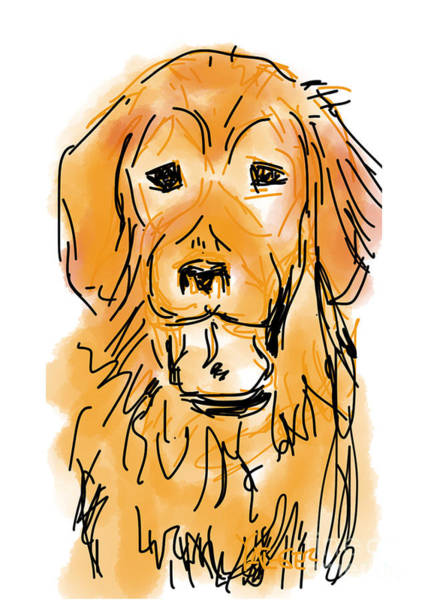 Golden Retriever Digital Art - Golden Boy by Robert Yaeger