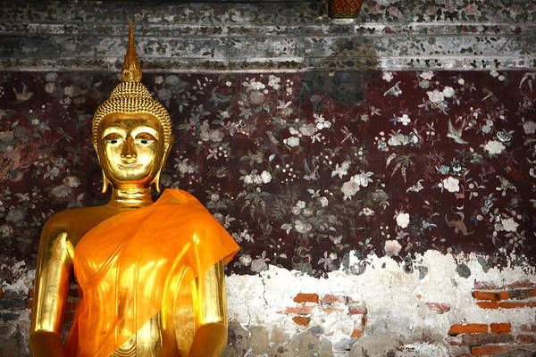 Wat Suthat Photograph - Golden Buddha In Thailand by Taweesak Boonwirut