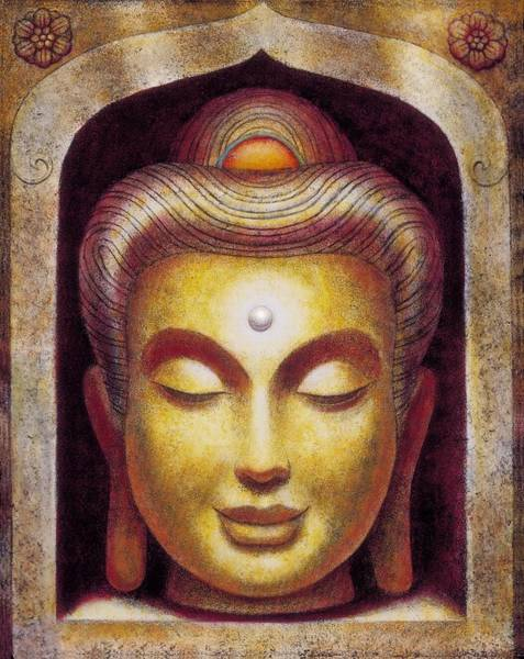 Zen Buddhism Painting - Golden Buddha by Sue Halstenberg