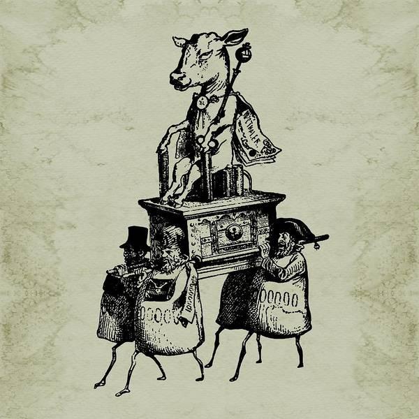 Digital Art - Golden Calf Grandville by Barbara St Jean
