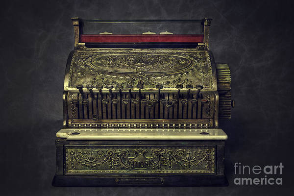 Cash Photograph - Golden Cash Register by Edward Fielding