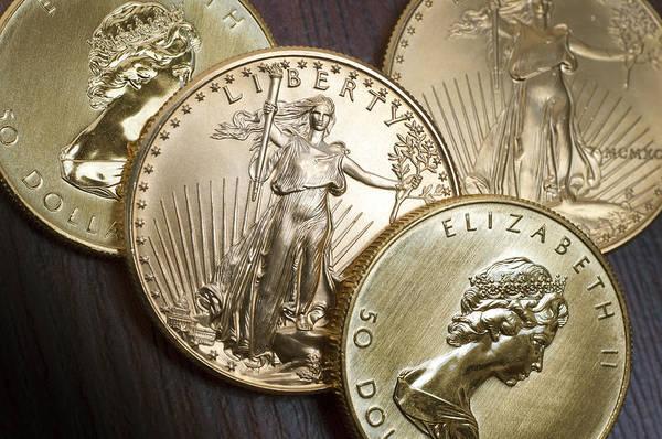 Legal Tender Photograph - Golden Coins by Joe Carini - Printscapes