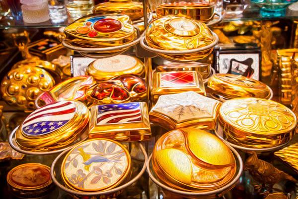 Digital Art - Golden Compacts by SR Green