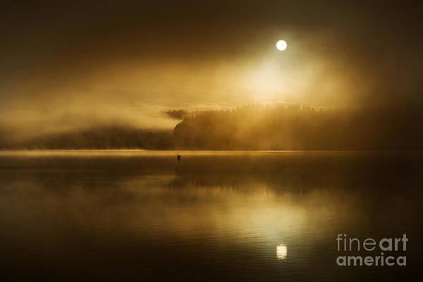 Loch Ard Photograph - Golden Dawn Loch Ard by Janet Burdon
