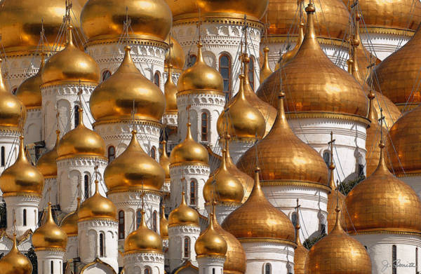 Golden Digital Art - Golden Domes by Joe Bonita