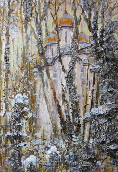 Painting - Golden Domes Of Cathedral by Ilya Kondrashov