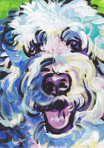 Doodle Painting - Golden Doodly Dee by Lea S
