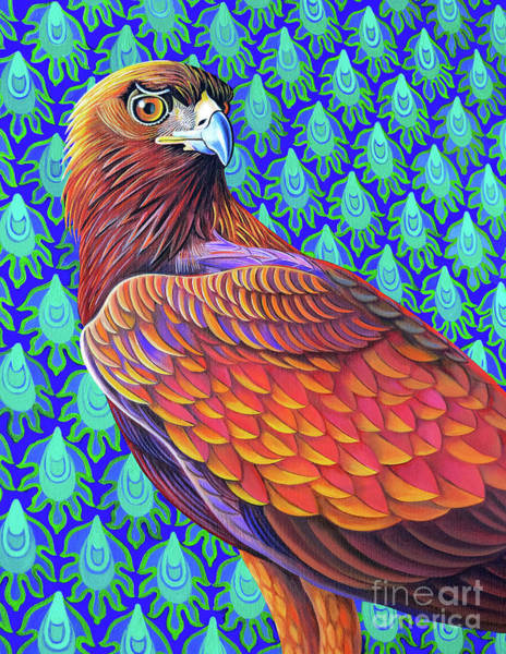 Wall Art - Painting - Golden Eagle, 2017 by Jane Tattersfield