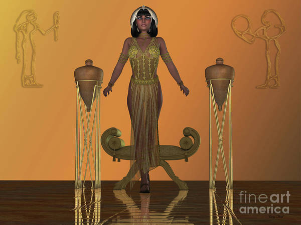 Wall Art - Digital Art - Golden Egyptian Princess by Corey Ford