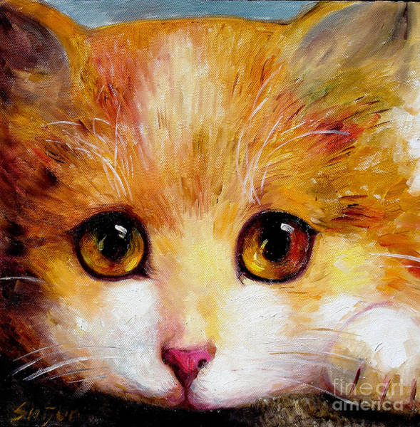 Painting - Golden Eye by Shijun Munns