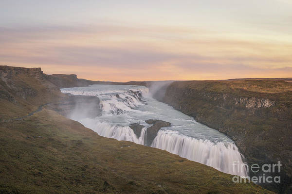 Photograph - Golden Falls Sunset  by Michael Ver Sprill