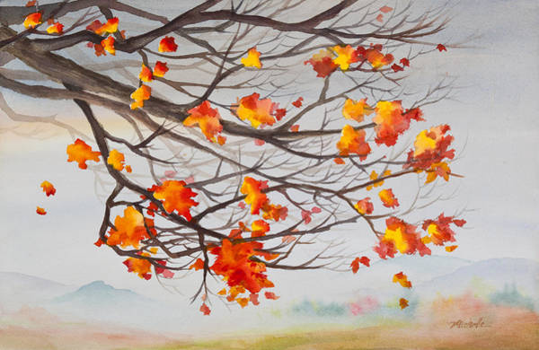 Painting - Golden Feeling Watercolor Painting by Michelle Constantine