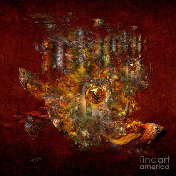 Digital Art - Golden Fish In The Lake by Alexa Szlavics