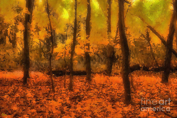 Digital Art - Golden Forest by Jeff Breiman