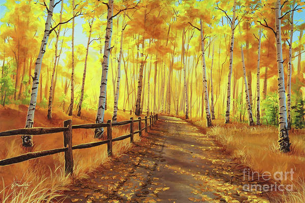 Painting - Golden Forest by Joe Mandrick