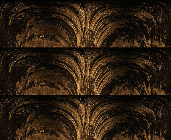 Wall Art - Mixed Media - Golden Fountain  by Lisa Stanley