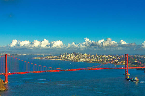 Wall Art - Photograph - Golden Gate And The City by Bill Gallagher