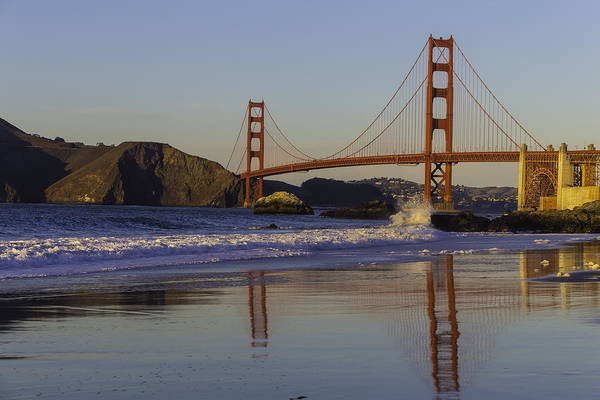 Cultural Center Wall Art - Photograph - Golden Gate And Waves by Garry Gay