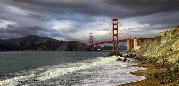 Photograph - Golden Gate At Marshall Beach by Michael Hope