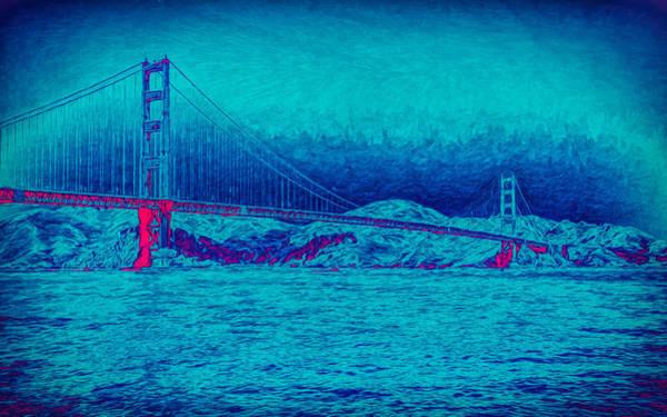 Photograph - Golden Gate Bridge Abstract by John M Bailey