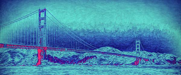 Photograph - Golden Gate Bridge Abstract Mug Shot by John M Bailey