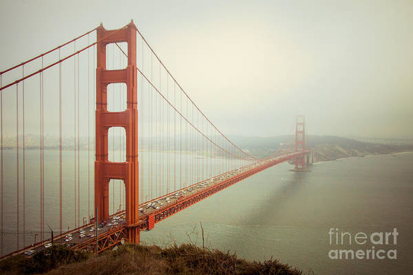Golden Photograph - Golden Gate Bridge by Ana V Ramirez