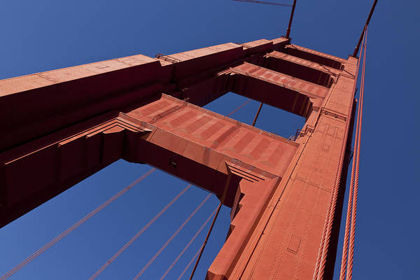 Steel Cable Wall Art - Photograph - Golden Gate Bridge At An Angle by Garry Gay