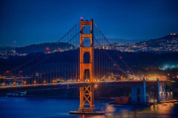 Wall Art - Photograph - Golden Gate Bridge Blue Hour by Paul Freidlund