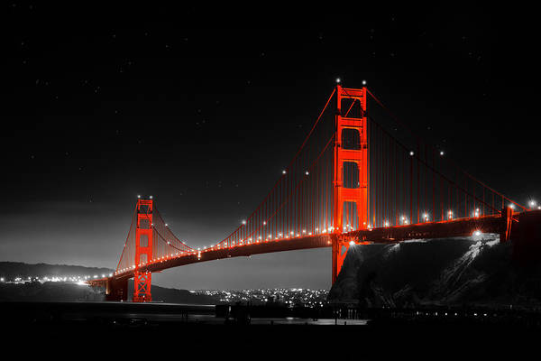 Photograph - Golden Gate Bridge by Bryant Coffey