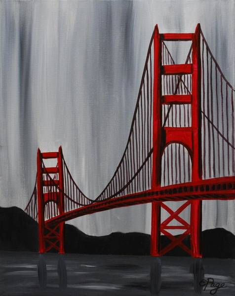 Painting - Golden Gate Bridge by Emily Page