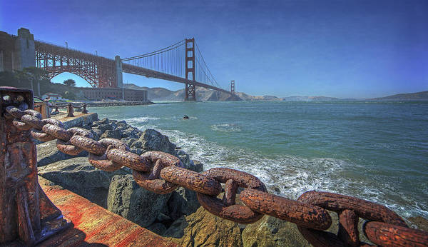 Chain Bridge Photograph - Golden Gate Bridge by Everet Regal