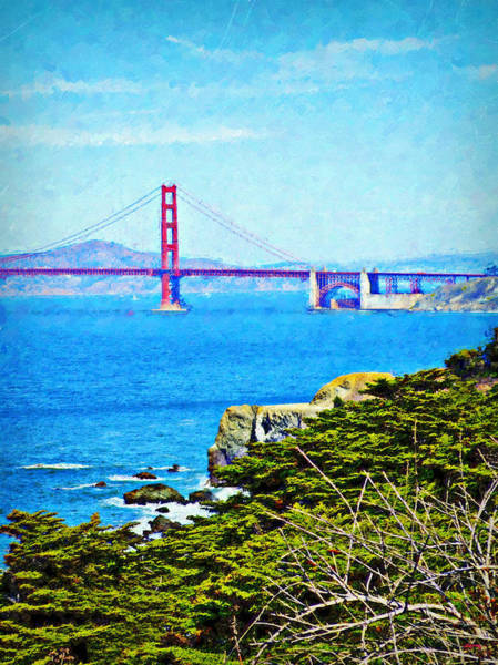 Mixed Media - Golden Gate Bridge From The Coastal Trail by Glenn McCarthy Art and Photography