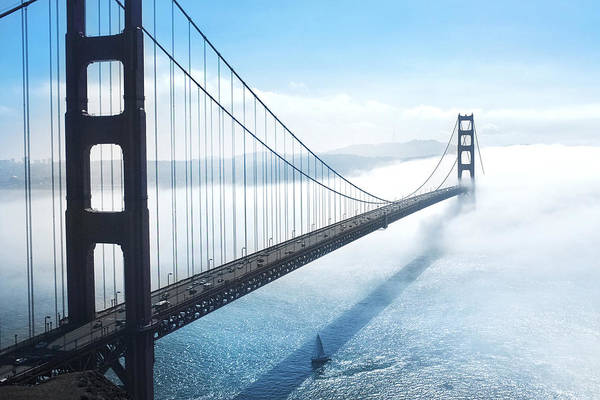 Wall Art - Photograph - Golden Gate Bridge by Happy Home Artistry