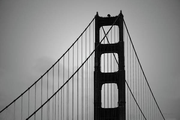 Photograph - Golden Gate Bridge I Bw by David Gordon